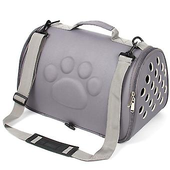 S 43 *24 * 26cm grå bærbare kæledyr rejsetaske, kat og hund åndbar håndtaske az22128