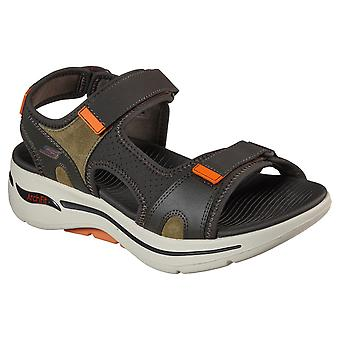 Skechers men's go walk arch fit mission summer sandal multicolor 32211