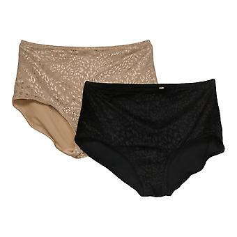 Rhonda Shear Panties (XXL) Jacquard Smoothing Brief Beige 730659