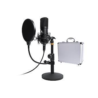 Maono Studio Table Top Microfoon Kit inclusief Pop Filter en Flight Case