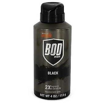 Bod Man Black By Parfums De Coeur Body Spray 4 Oz (hommes)