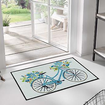 Daisy Daisy Bicycle Washable Floor Mats In Multicolour