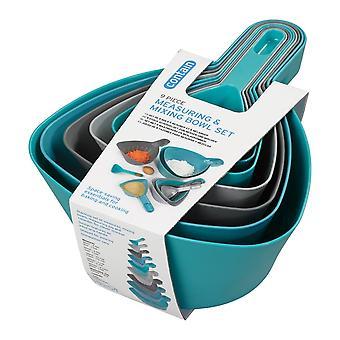 Chef Aid Measuring &Mixing Bowl Set 9 Piezas