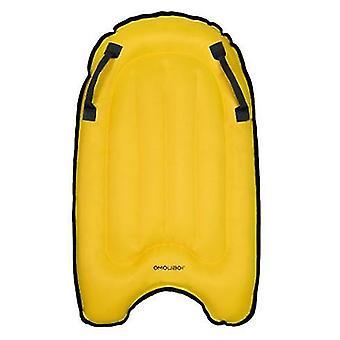 Aufblasbares Surfbrett, Schwimmendes Kinderbett, Surfbett, Schwimmhilfsausrüstung (Gelb)