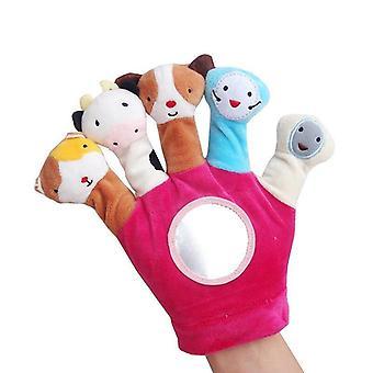 Baby Hand Puppet Cartoon Animal Plush Toy Fabric Finger Puppet Newborn Animal Gloves Educational Toy
