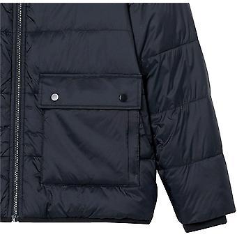 Essentials Miesten pitkähihainen vedenkestävä sherpa-vuorattu puffer-takki