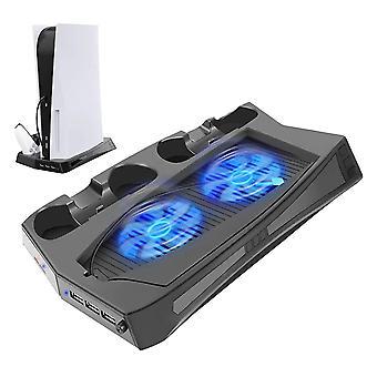 מעמד אנכי עם מאוורר קירור עבור קונסולת PS5 ופלייסטיישן 5 מהדורה דיגיטלית,