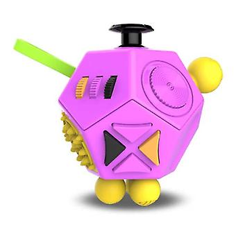 Stuff Certified® Fidget Cube 12 Seiten - Fidget Anti Stress Toy Silikon ABS Pink