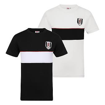 Fulham FC Boys T-Shirt Poly Training Kit Kids OFFICIAL Football Gift