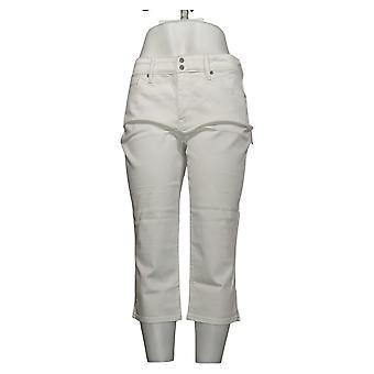 NYDJ Mujeres's Petite Jeans Cool Embrace Skinny Crop Side Slits Blanco A377695