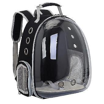Zaino porta-gatti, capsula spaziale zaino zaino pet travel bag impermeabile traspirante (nero)