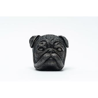 Plant Pot Feet - Bronze Pug Dog (Set of 3) Potty Feet Planter Risers