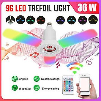 E27 36w bluetooth music speaker rgb led garage light remote control deformable ceiling fixture lamp ac85-265v