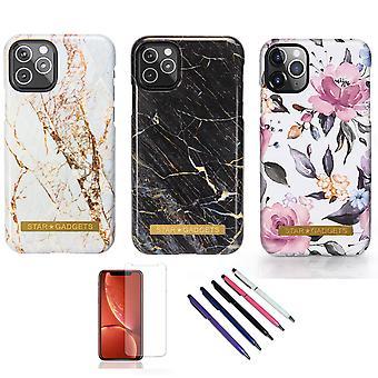 Iphone 11 Pro - Skal / Skydd / Blommor / Marmor