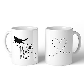 My Kids Have Paws  Mug Gift Idea For Cat Lover Cute Ceramic Mugs