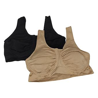 Rhonda Shear «Perfect Match» 2-Pack Soutien-gorge anti-humidité Noir 749424
