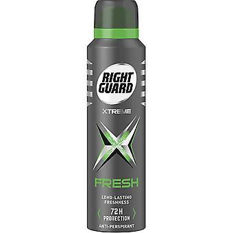 Höger vakt 6 X Höger Vakt Xtreme Deodorant För Män - Färska
