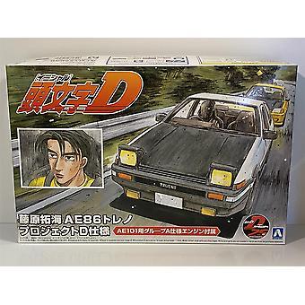 Alkuperäinen D Toyota AE86 Takumi Fujiwara 1:24 Asteikko mallisarja 059579 Aoshima