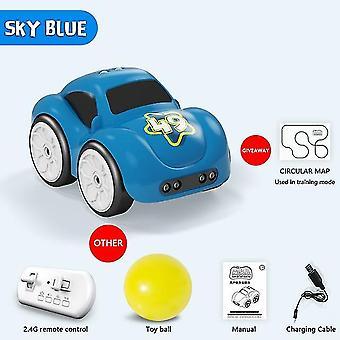 Mini rc sensor inteligente carro de rádio controlado elétrico bonito controle remoto modo desenho animado carro inteligente