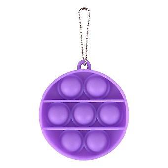 Erwachsene Pop es Push Bubble Fidget sensorische Spielzeug Schlüsselanhänger für Anti-Stress und Angst Linderung (P)