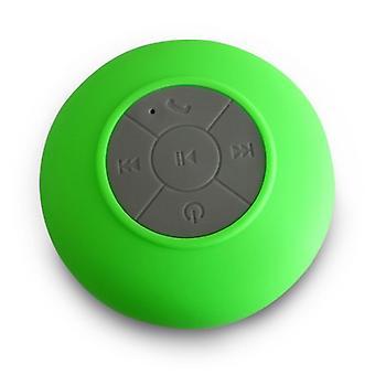 Duschlautsprecher Bluetooth wasserdichte widerstandsfähige Wandhalterung Tragbarer Lautsprecher Wireless eingebautes Mikrofon mit solider Saugschale
