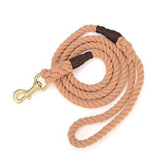 Laisse de corde pour chien, coton multicolore traction corde tressée pour chiens de taille moyenne