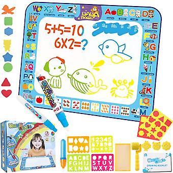 Tapete de Doodle Mágico, Desenho de Água Extra Grande Acolcho de Coloração 39*28 Polegadas Brinquedos Educacionais