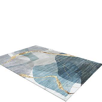Silktaa Modern Minimalist Rectangular Geometric Abstract Carpet