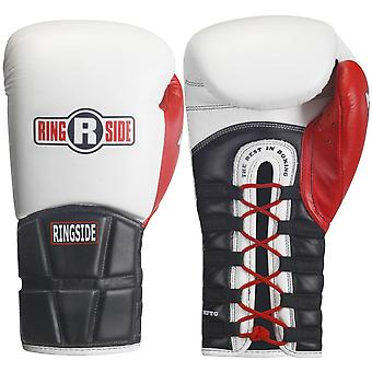 Ringside Boxing Pro Style IMF Tech Training Lace Gloves - White/Black/Red