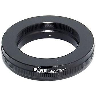 Kiwifotos objektív Mount Adapter: umožňuje T mount objektívy (ďalekohľady, mikroskopy, zväčšovače, mechy jednotky atď), ktoré majú byť použité na Nikon D40, D40x, D50, D60, D70, D70s, atď [pozri Popis pre kompatibilitu]