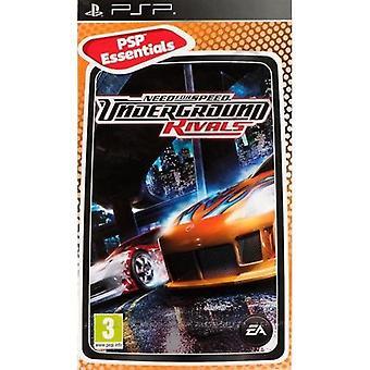Need for Speed Underground rivaler Essentials Edition PsP spill