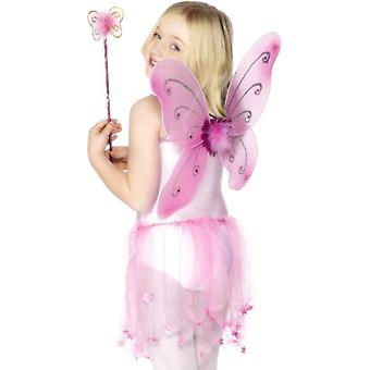 Bambino fata ali ali di fata fata fata costume rosa