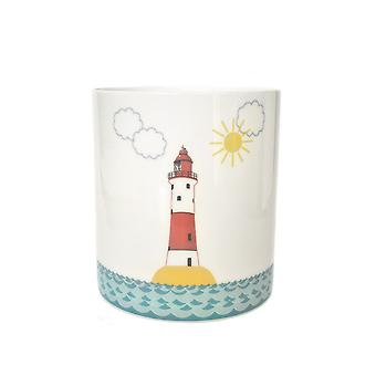 Light-Glow Porcelain Candle Holder, Lighthouse