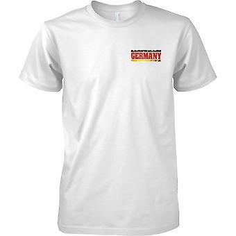 Alemania país Grunge efecto de nombre de bandera - hombres pecho diseño camiseta
