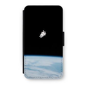 iPhone X フリップ ケース - スペースで一人で
