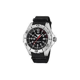 KHS zegarki męskie zegarek stal przywódca kraju KHS. LANS.NB