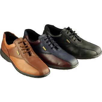 Cotswold Ladies Salford Lace Up Leather Waterproof Casual Shoe Navy