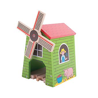 Bigjigs Rail Wooden Country Windmill Farmyard Train Play Accessories Railway