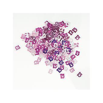 Bursdag glitter rosa 13 bursdag konfetti