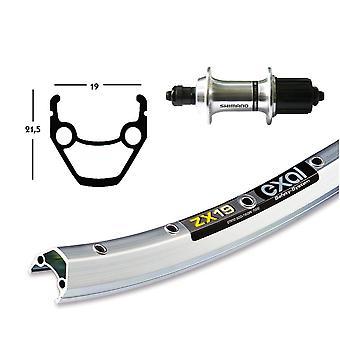 """אופניים-חלקים 26 """"גלגל אחורי Exal ZX 19 + שימנו טורניר TX500 8-10-מהירות (QR)"""