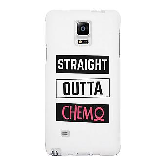 Straight Outta Chemo Breast Cancer White Phone Case