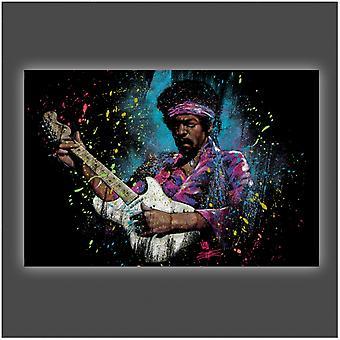 Jimi Hendrix Electric Glow Poster Poster Print by Stephen Fishwick