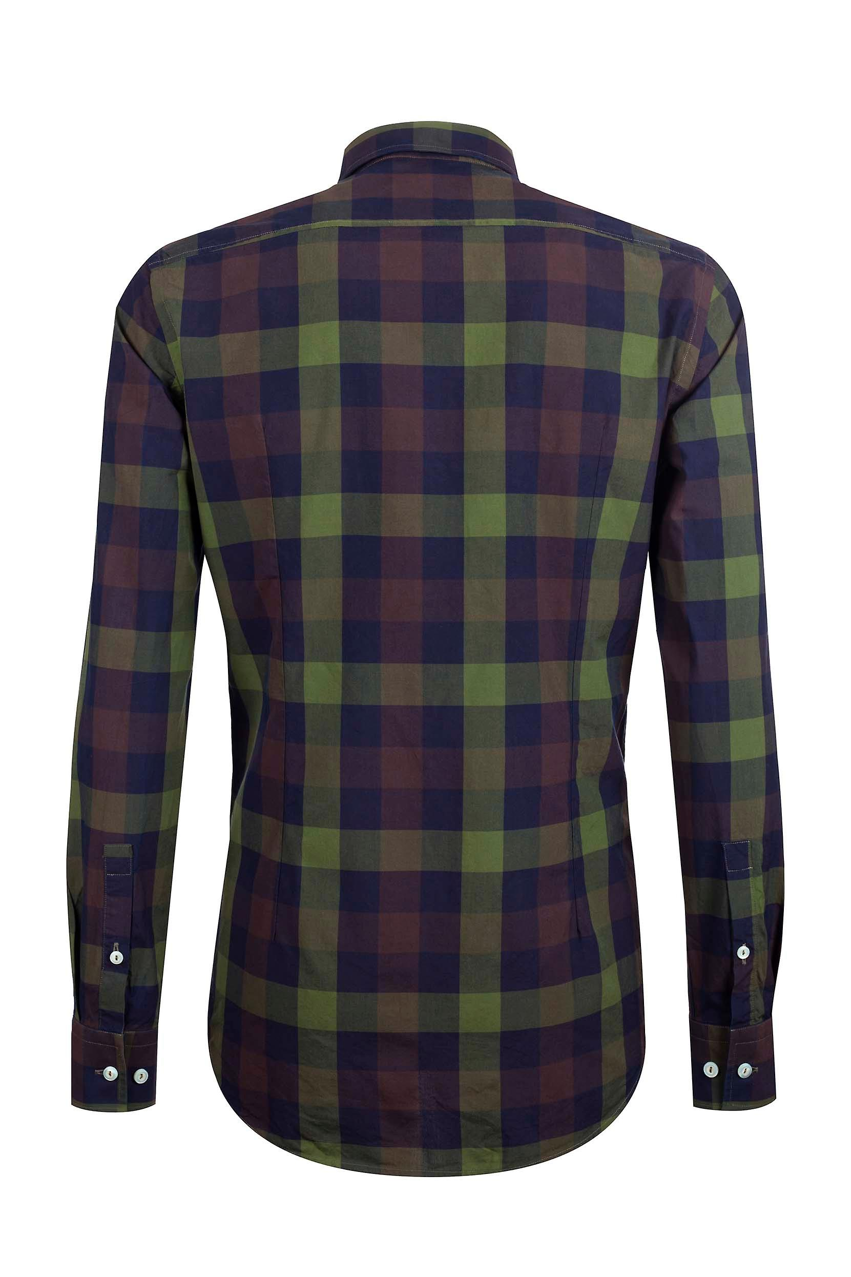 Fabio Giovanni San Martino Shirt - Mens High Quality Italian Poplin Cotton Multicoloured Check Shirt