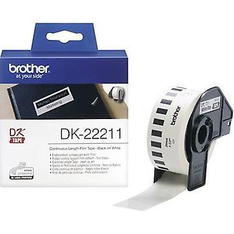 Brother DK-22211 Tarrarulla 29 mm x 15,24 m Film Valkoinen 1 kpl Pysyvä DK22211 Yleistarrat