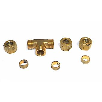 """Big A Service Line 3-16460 Hydraulic Tee Connector Fitting 3/8"""""""