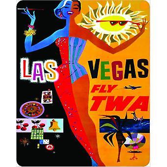 Las Vegas Fly Twa muestra del Metal de 375 Mm X 300 Mm