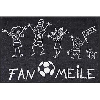 Salon lion doormat-Fanmile 50 x 75 cm washable dirt mat football