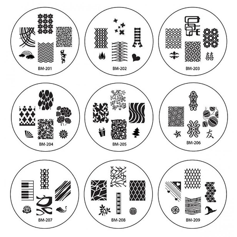 Nail Art Stamp Kit with 150 Designs Stickers - 1 X Stamper 20 X Metal Image Plates