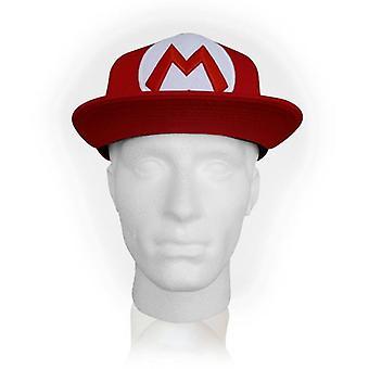 NINTENDO Super Mario Bros Mario simbolo Snapback Baseball Cap Red (SB140251NTN)