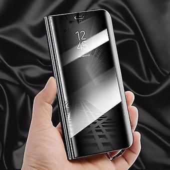 Für Apple iPhone X / 10 / XS 5.8 Zoll Clear View Spiegel Mirror Smartcover Schwarz Etui Tasche Hülle Neu Case Wake UP Funktion